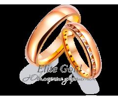 Кольца обручальные парные артикул: 4121056D