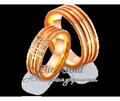Кольца обручальные парные артикул: 4121142D