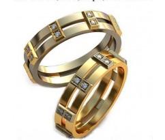 Уникальные парные обручальные кольца арт: AU104