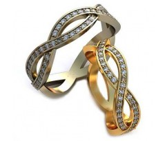Уникальные парные обручальные кольца арт: AU111