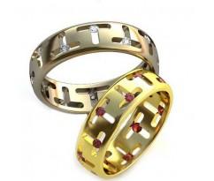 Уникальные парные обручальные кольца арт: AU113
