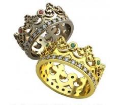 Уникальные парные обручальные кольца арт: AU115