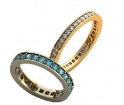 Уникальные парные обручальные кольца арт: AU119