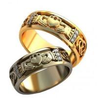 Уникальные парные обручальные кольца арт: AU125