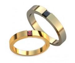 Уникальные парные обручальные кольца арт: AU134