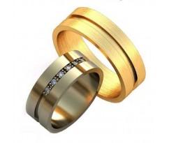 Уникальные парные обручальные кольца арт: AU135