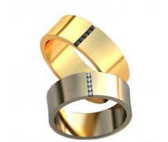 Уникальные парные обручальные кольца арт: AU136