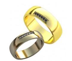 Уникальные парные обручальные кольца арт: AU138