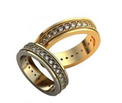 Уникальные парные обручальные кольца арт: AU143