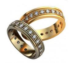 Уникальные парные обручальные кольца арт: AU145