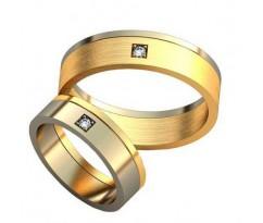 Уникальные парные обручальные кольца арт: AU146