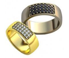 Уникальные парные обручальные кольца арт: AU148