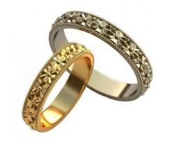 Уникальные парные обручальные кольца арт: AU149
