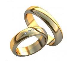Уникальные парные обручальные кольца арт: AU150