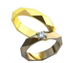 Обручальные кольца AU151
