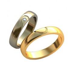 Уникальные парные обручальные кольца арт: AU152