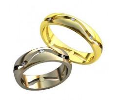 Уникальные парные обручальные кольца арт: AU157