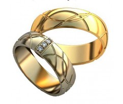 Парные обручальные кольца арт: AU177