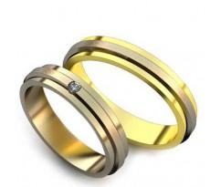 Уникальные парные обручальные кольца арт: AU18