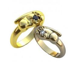 Парные обручальные кольца арт: AU181