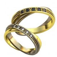 Парные обручальные кольца арт: AU182