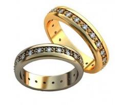 Парные обручальные кольца арт: AU183