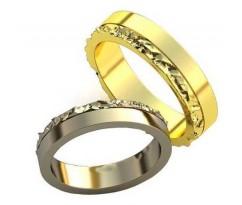 Парные обручальные кольца арт: AU186