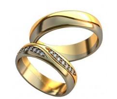Парные обручальные кольца арт: AU188