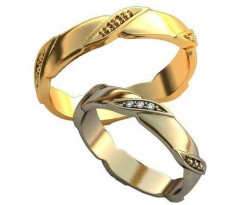 Парные обручальные кольца арт: AU198