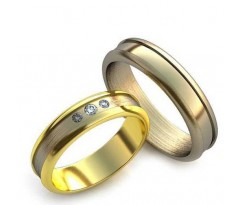 Уникальные парные обручальные кольца арт: AU20