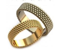 Авторские парные обручальные кольца арт: AU205