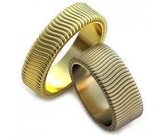 Авторские парные обручальные кольца арт: AU206