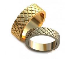 Авторские парные обручальные кольца арт: AU208