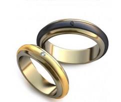 Уникальные парные обручальные кольца арт: AU22