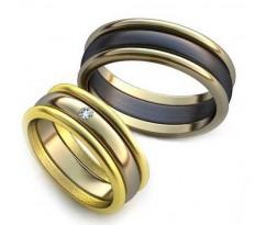 Уникальные парные обручальные кольца арт: AU23