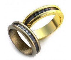 Уникальные парные обручальные кольца арт: AU24
