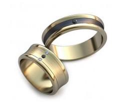 Уникальные парные обручальные кольца арт: AU26