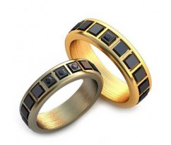 Уникальные парные обручальные кольца арт: AU27