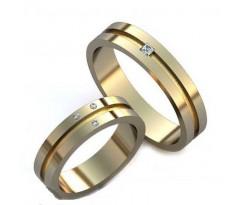 Уникальные парные обручальные кольца арт: AU29