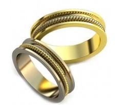 Уникальные парные обручальные кольца арт: AU33