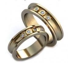 Уникальные парные обручальные кольца арт: AU34