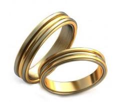 Уникальные парные обручальные кольца арт: AU36