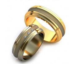 Уникальные парные обручальные кольца арт: AU65