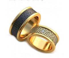 Уникальные парные обручальные кольца арт: AU66