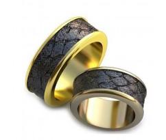 Уникальные парные обручальные кольца арт: AU67