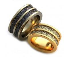 Уникальные парные обручальные кольца арт: AU68