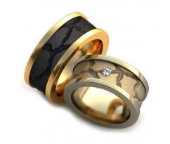Уникальные парные обручальные кольца арт: AU70
