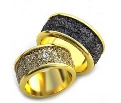 Уникальные парные обручальные кольца арт: AU71