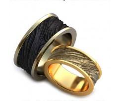 Уникальные парные обручальные кольца арт: AU72