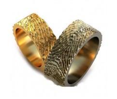 Уникальные парные обручальные кольца арт: AU74